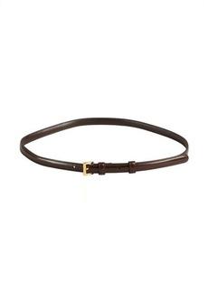 Prada tobacco saffiano leather skinny belt