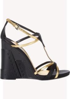 Prada Wedge-Heel Strappy Sandals