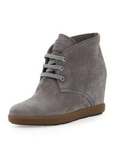 Suede Wedge Desert Boot, Ghiaia   Suede Wedge Desert Boot, Ghiaia