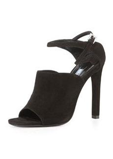 Suede Wide-Band Sandal, Black   Suede Wide-Band Sandal, Black