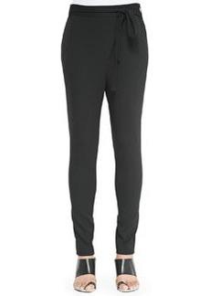 Asymmetric-Tie Pants, Black   Asymmetric-Tie Pants, Black