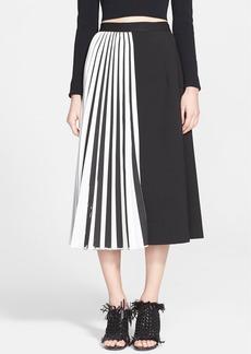 Proenza Schouler Accordion Pleat Suiting Skirt