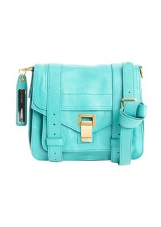 Proenza Schouler aqua green leather 'PS1 Pouch' buckle strap shoulder bag
