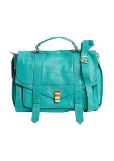 Proenza Schouler aqua leather small 'PS 1' convertible shoulder bag