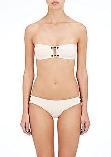 Proenza Schouler Barbell-Closure Bandeau Bikini