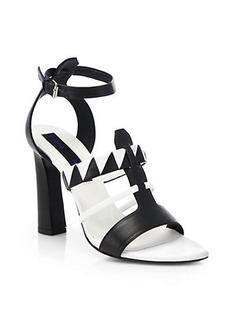 Proenza Schouler Black & White Leather Sandals