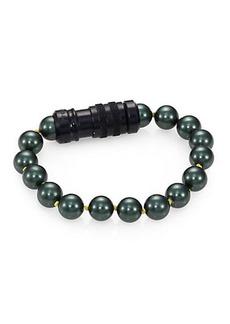 Proenza Schouler Black Faux Pearl Bracelet