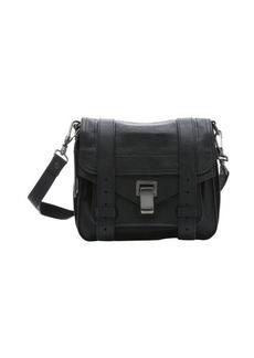 Proenza Schouler black leather 'PS 1 Pouch' shoulder bag