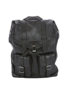 Proenza Schouler black leather 'PS1' buckle detail backpack