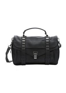 Proenza Schouler black leather 'PS1' medium studded convertible satchel