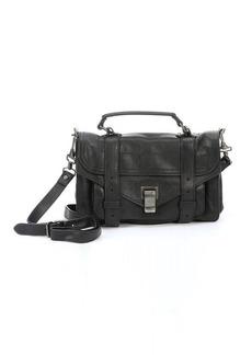 Proenza Schouler black leather 'PS1 Tiny Lux' satchel