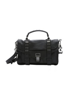 Proenza Schouler black leather 'PS1 Tiny' studded convertible satchel