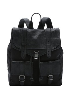 Proenza Schouler black nylon and leather 'PS1 XL' backpack