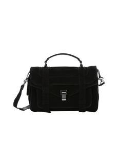 Proenza Schouler black suede 'PS1' medium convertible satchel
