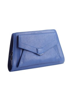 Proenza Schouler blue leather 'PS13' pocket clutch