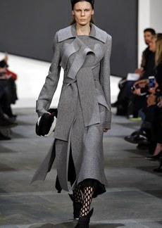 Proenza Schouler Boiled Wool Double Breasted Coat