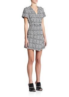 Proenza Schouler Bouclé Basket-Print Dress
