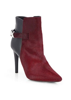 Proenza Schouler Calf Hair & Leather Point-Toe Booties