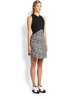 Proenza Schouler Carpet Pad Contrast Dress