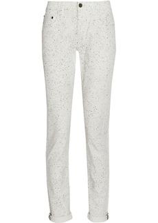Proenza Schouler Coated stretch-denim straight-leg jeans