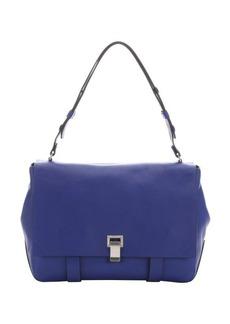 Proenza Schouler cobalt blue large top handle courier
