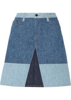 Proenza Schouler Color-block denim skirt