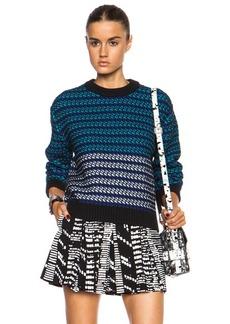 "Proenza Schouler <div class=""product_name"">Crewneck Cotton-Blend Pullover</div>"
