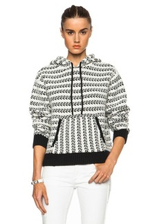 """Proenza Schouler <div class=""""product_name"""">Hooded Cotton-Blend Pullover</div>"""