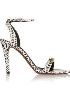 Proenza Schouler Embellished elaphe sandals