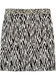 Proenza Schouler Faux raffia-jacquard mini skirt