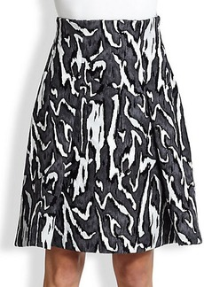 Proenza Schouler Flock Printed Crepe Skirt