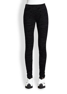 Proenza Schouler Flocked Skinny Trousers
