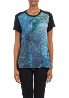 Proenza Schouler Geometric-Print Combo T-shirt