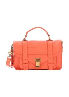 Proenza Schouler grapefruit pink leather 'PS 1 Tiny' satchel bag