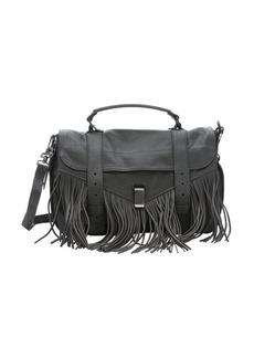 Proenza Schouler grey leather 'PS1' medium fringed convertible satchel