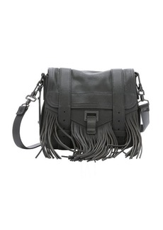 Proenza Schouler grey leather 'PS1 Pouch' fringe shoulder bag