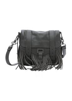 Proenza Schouler grey leather 'PS1 Pouch' fringe shoulder bag
