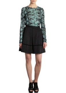 Proenza Schouler Grommet Hem Pleated Skirt