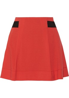 Proenza Schouler Grosgrain-trimmed stretch-wool crepe skirt