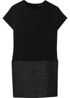 Proenza Schouler Jacquard-paneled crepe mini dress