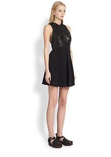 Proenza Schouler Lacquer-Print Pleated Dress