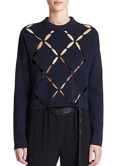 Proenza Schouler Lattice Cut-Out Sweater