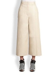 Proenza Schouler Leather High-Waist Culottes