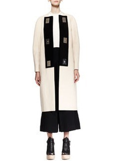 Proenza Schouler Long Bicolor Turn-Lock Coat