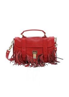 Proenza Schouler mandarin red leather 'PS1 Tiny' convertible fringe satchel