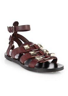 Proenza Schouler Metal-Detailed Leather Gladiator Sandals