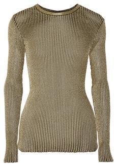 Proenza Schouler Metallic ribbed-knit top