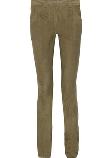 Proenza Schouler Mid-rise suede skinny pants