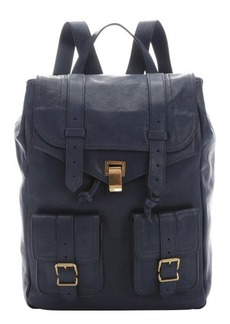 Proenza Schouler midnight leather 'PS 1' buckle detail backpack