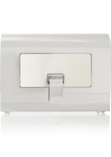 Proenza Schouler Minaudière silver-tone box clutch
